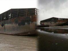 Heboh Kapal Misterius Besar Terdampar di Pantai Pemalang