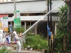 Karna Banyak Warga yang Disengat, Damkar Pekanbaru Evakuasi Sarang Tawon Besar