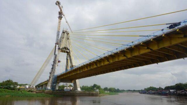 Uji Beban Jembatan Siak IV Pekanbaru Di Ikutin Dari Ahli ITB, UGM Hingga UI