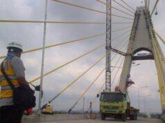 Hari Ini Uji Beban Jembatan Siak IV Dilakukan , Dan Bakal Di Resmikan 14 Februari