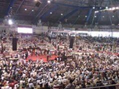 Ribuan Pendukung Prabowo Padati Gelanggang Remaja Pekanbaru