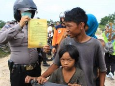 Polsek Payung Sekaki Patroli di Daerah Rawan Kebakaran Hutan dan Lahan di Kota Pekanbaru