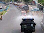 Cegah Virus Corona Lebih dari 59 Ton Disinfektan Disemprot di Jalanan Kota Pekanbaru