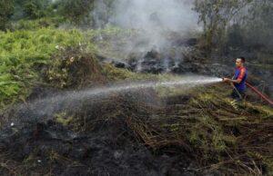 Pagi Ini Terpantau 130 Hotspot di Riau, Walau Ada Sedikit Muncul Asap
