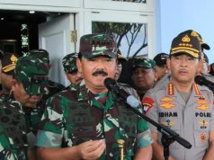 TNI Marsekal Hadi Tjahjanto dan Kapolri Jenderal Idham Azis