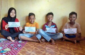 Miris , Satu Bulan Jadi Yatim, 4 Bersaudara Ini Sulit Penuhi Biaya Pendidikan
