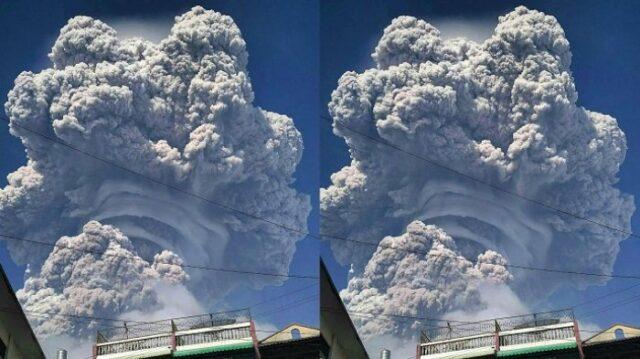 Gunung Sinabung Erupsi Hari Senin Ini, 5 Kali Lebih Besar dari Erupsi Sebelumnya