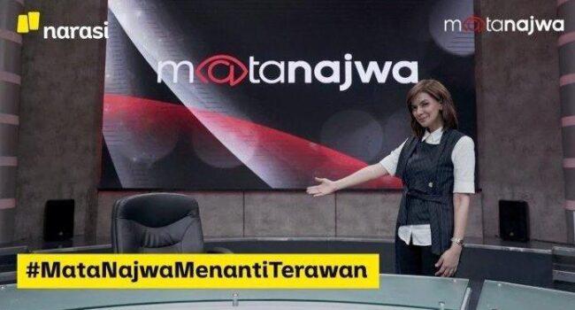 Najwa Shihab mewawancarai kursi kosong Menteri Kesehatan (Menkes) Terawan Agus Putranto.